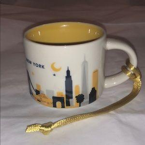 Starbucks New York YAH Mini Mug/Ornament
